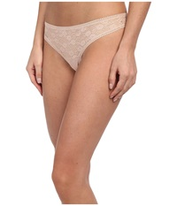Ongossamer Gossamer Allover Lace Hip G Thong 022601 Champagne Women's Underwear Gold