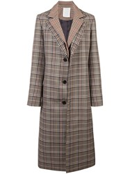 Monse Plaid Single Breasted Coat Unavailable