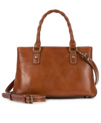 Patricia Nash Heritage Angela Double Compartment Small Satchel Tan