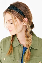 Urban Outfitters Leather Headwrap Black