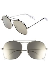 Alexander Mcqueen Women's 59Mm Aviator Sunglasses Silver