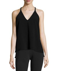 Elizabeth And James Rocco Sleeveless Racerback Top Black