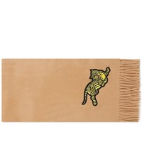 Kenzo Jumping Tiger Scarf Neutrals