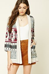 Forever 21 Tribal Print Shawl Cardigan