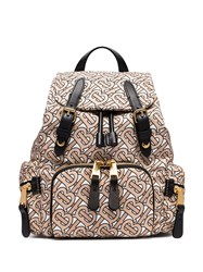 Burberry Small Tb Monogram Backpack Neutrals