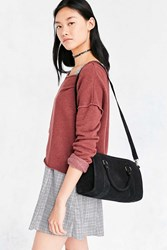 Urban Outfitters Audrey Suede Duffel Bag Black