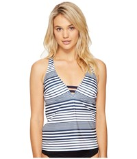 Nautica Seabrook Racerback Tankini Top Navy Women's Swimwear