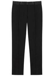 Iro Quiza Cropped Stretch Wool Trousers Black