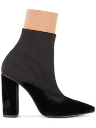 Lalo Pointed Toe Ankle Boots Black