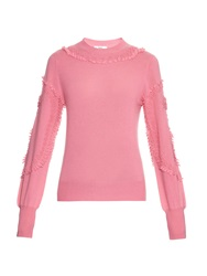 Barrie Romantic Embroidered Cashmere Sweater