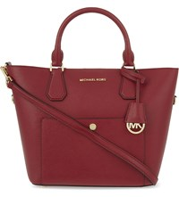 Michael Michael Kors Greenwich Large Saffiano Leather Tote Chrry Ballet