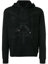 Les Hommes Embroidered Detail Hoodie Cotton Xl Black
