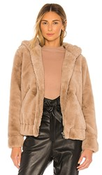 Blank Nyc Blanknyc Faux Fur Bomber In Taupe. Sand Stoner