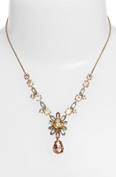 Women's Marchesa 'Crystal Cluster' Pendant Necklace Pink Multi