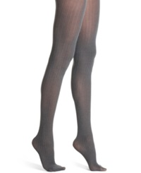 Calvin Klein Solid Textured Opaque 2 Pack Tights Black Charcoal