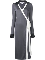 Diane Von Furstenberg Cybil Wrap Dress Grey