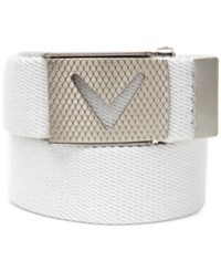 Callaway Cut To Fit Solid Webbed Golf Belt Bright White
