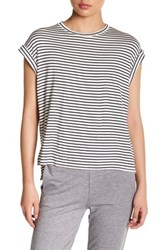 Candc California Short Sleeve Striped Tee White