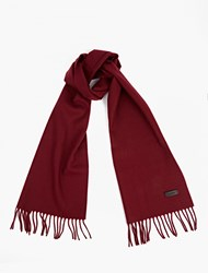 Lanvin Deep Red Wool Scarf