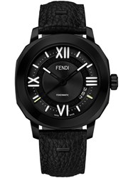 Fendimatic Watch With Interchangeable Straps Black