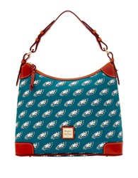 Dooney And Bourke Philadelphia Eagles Printed Hobo Green Eagles
