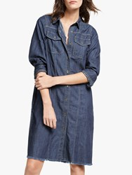And Or Georgia Denim Shirt Dress Blue