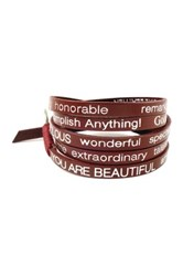 Good Work S Make A Difference Wrap Around You Are Beautiful Leather Bracelet Red