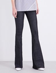 Victoria Beckham Flare Skinny Mid Rise Jeans Raw Stretch