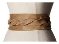 Ada Collection Obi Classic Wrap Tan Suede Women's Belts