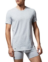 Lacoste Two Pack Slim Fit Crewneck Tees Grey