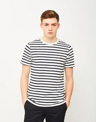 Farah Lennox Short Sleeve Stripe T Shirt Navy