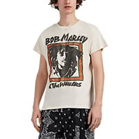 Madeworn Bob Marley Distressed Cotton T Shirt White