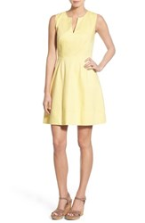 Women's Vineyard Vines Split Neck Textured Cotton Dress