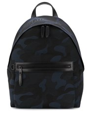 Mulberry Jacquard Caso Backpack Blue
