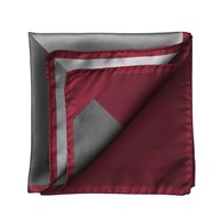 Aspinal Of London Block Colour Pocket Square Burgundy