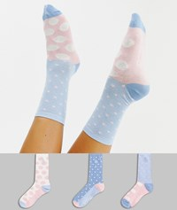 Penguin 3 Pack Polka Dot Sock Gift Box Multi