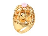 Betsey Johnson Rose Gold Multi Bird Cage Ring Multi Ring