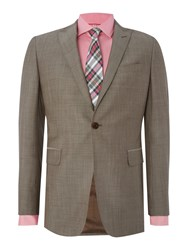 Richard James Contemporary Wool Mohair Sb1 Ff Suit Taupe