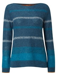 White Stuff Rosemary Stripe Jumper Teal
