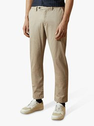Ted Baker Clncere Straight Classic Fit Chinos Light Grey