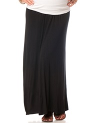 Motherhood Maternity Foldover Waist Maxi Skirt
