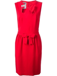 Moschino Vintage Ribbon Cut Out Dress Red