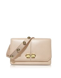 Carven Genuine Leather Shoulder Bag Nude