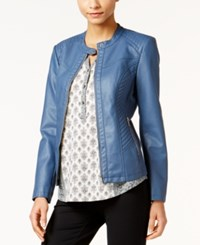 Styleandco. Style Co. Faux Leather Jacket Only At Macy's New Uniform Blue