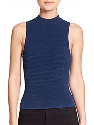 Sachin Babi Chromis Ribbed Mockneck Tank Top Navy