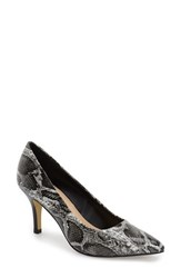 Women's Bella Vita 'Define' Pointy Toe Pump Black White Snake
