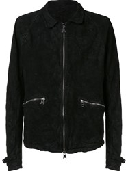 Giorgio Brato Creased Reversible Jacket Black