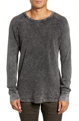 Hudson Jeans Slim Fit Long Sleeve Thermal Mineral Grey