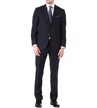 Corneliani Single Breasted Tapered Wool Suit Navy