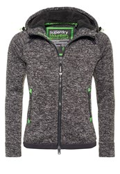Superdry Storm Cardigan Charcoal Grit Light Grey